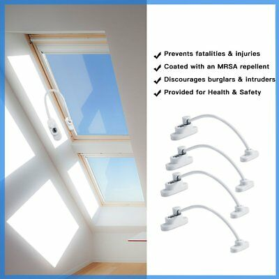 1X 2X 4X Window Door Restrictor Child Safety Security Cable Lock Wire Ventilator