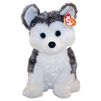 TY Classic Plush - SLUSH the Husky Dog (NO Mouth) - MWMTs