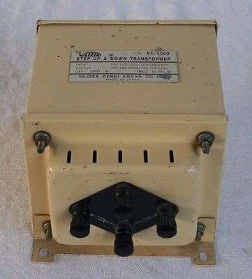 Rare Vintage Made In Japan Ki2000 Step Up/down Power Transformer