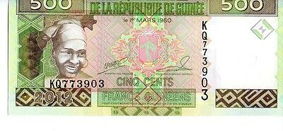 Guinea  500 Francs Currency Unc