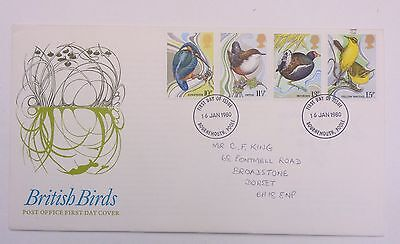 Great Britain First Day Cover British Birds 1980