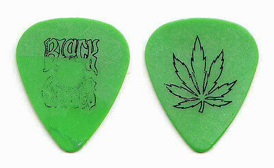 Black Crowes Marijuana Leaf Green Guitar Pick - 1991/1992 High as the Moon Tour