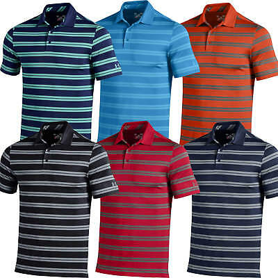 Under Armour Performance Stripe Polo Golf Shirt Men's New - Choose Color & Size!