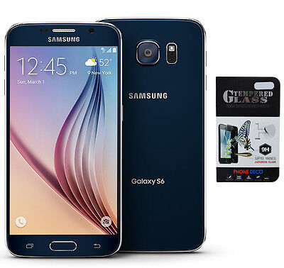 NEW Samsung Galaxy S6 SM-G920T Black T-Mobile GSM Network Unlocked AT&T & More