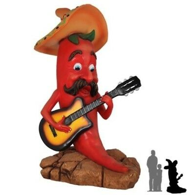Singing Chili Statue Cartoon Western Prop Display - Free Ship