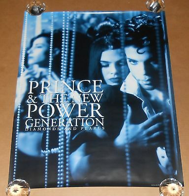 Prince and the New Power Generation Diamonds and Pearls 1991 Promo Poster 29x23