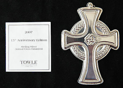 Towle Annual Sterling Silver Christmas Cross Ornament 2007 - 15Th Edition