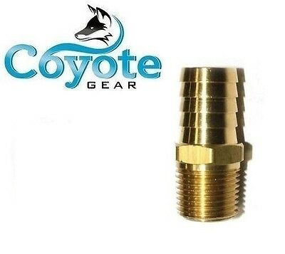 "Brass 5/8"" Hose Barb x 3/8"" NPT Male Pipe Thread Fitting Coyote Gear"