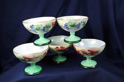 Royal Bayreuth Handpainted Pedestal Punch Cups Set Of 5