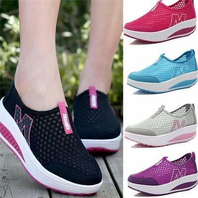Womens Summer Mesh Sport Sneaker Breathable Flat Platform Athletic Loafers Shoes