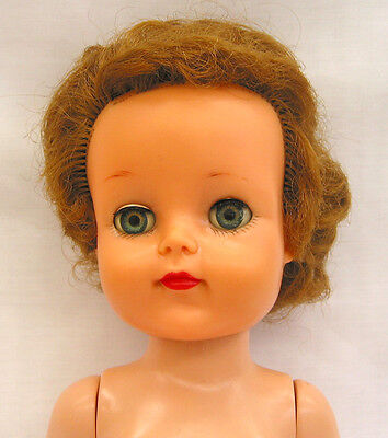 "EA158 Vintage Ideal Posie 17"" Doll 1954-6 as is, use for parts"
