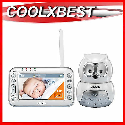 Free Postage- Vtech Bm4500 Owl Pan Tilt Zoom Audio Video Baby Monitor Talk Back