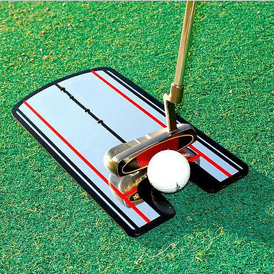 Portable Golf Putting Mirror Training Eyeline Alignment Trainer Practice Tool