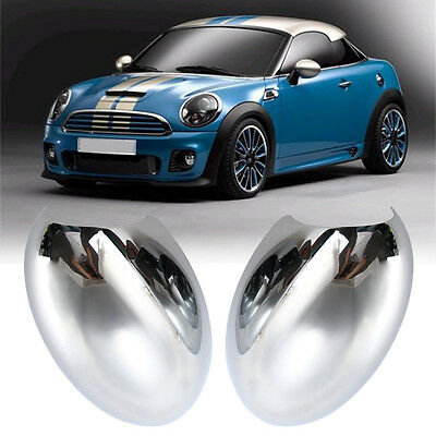 2x Left & Right Door Wing Mirror Back Cover Casing Cap For BMW Mini Cooper 01-06