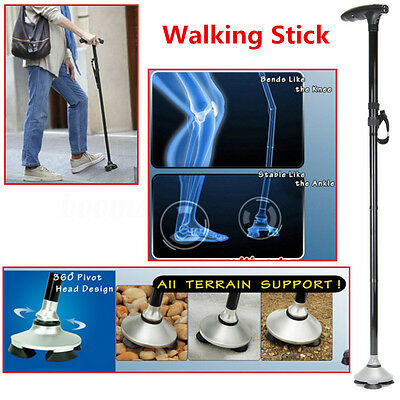 Self Standing Folding Cane Walking Stick Lightweight Adjustable with LED Lights