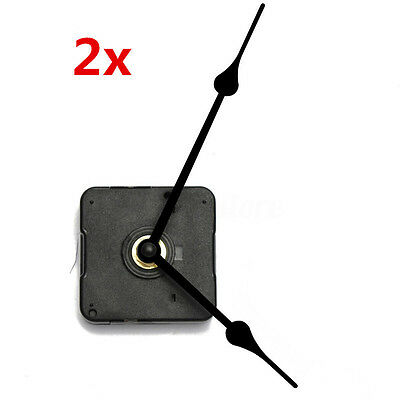 2x Black French Spade Hand Long Spindle Clock Movement Mechanism Kit High Torque