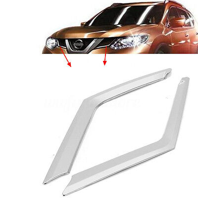 Chrome Front Grille Molding Cover Trim For Nissan Rogue X-Trail T32 14-2016