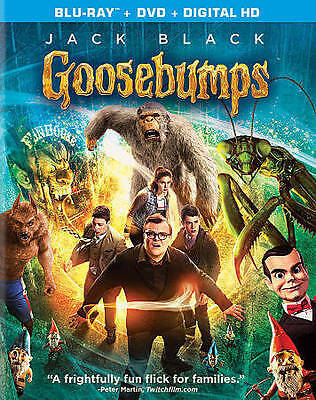GOOSEBUMPS (Blu-ray/DVD, 2016, 2-Disc Set) New / Factory Sealed / Free Shipping