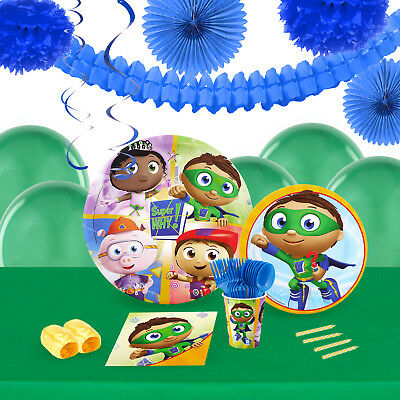 Super Why 16 Guest Tableware Deco Kit