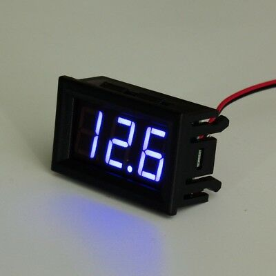 DC 3~30V Blue LED Digital Display Panel Voltmeter Voltage Gauge Car Motor Boat