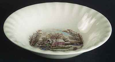 Edwin Knowles WINTER SCENES Fruit Dessert (Sauce) Bowl 7340583