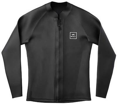 RVCA Smooth Skin Front Zip Wetsuit Jacket - Black - New