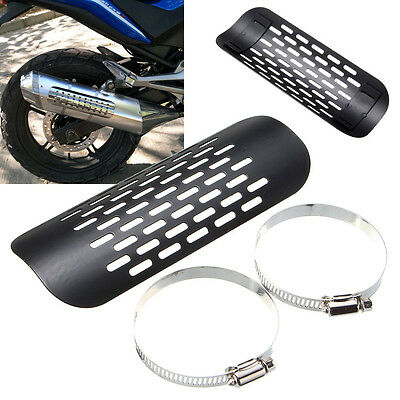Universal Motorcycle Exhaust Muffler Pipe Heat Shield Cover Guard For Harley