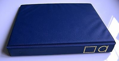 "W.h. Smith Universal Luxury Blue 22 Ring Stamp Album ""empty"""