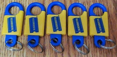 5 Vintage Blockbuster Video Promo Keychain Keyring Key Chain Ring  FREE SHIPPING