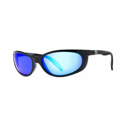ea9a5359cc Calcutta Polarized Smoker Sunglasses 60mm Black Blue Mirror Lens SK1BM