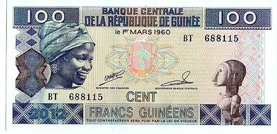 Guinea 100 Francs Currency Unc
