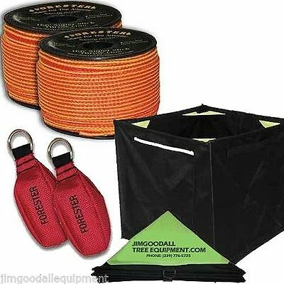 Tree Climbers Throw Line Kit, 2-166' Throw Line, 2-15 Oz Throw Bags, Cube