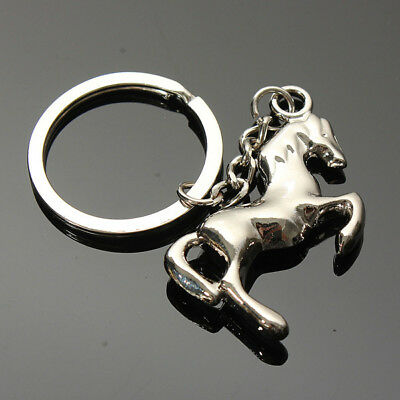 Creative Animal Horse Keychain keychain Gifts Car Key Ring Chain Holder Sliver