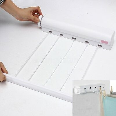 5 Line Retractable Automatic Airer Wash Laundry Wall Mounted Indoor Dryer Hanger