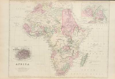 Antique Map of Africa - Mitchell's Atlas of the World c. 1881