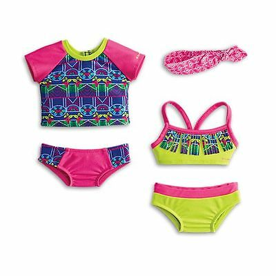 American Girl Lea's Mix & Match Swim Set 5 Piece Clothes Set PLEASE READ B172