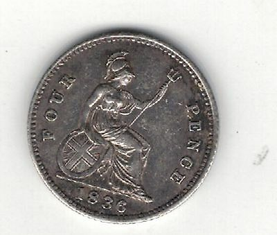 William.iv. 1836 , Fourpence/groat E.f.  Cond. Please See Pictures