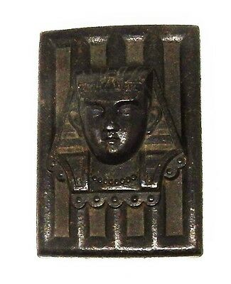 Antique / Vintage Art Deco / Egyptian Revival Pharaoh Motif Belt Buckle