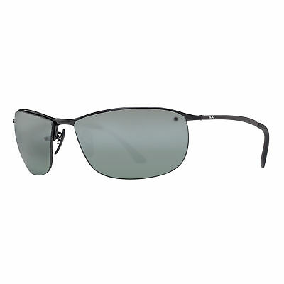 Ray Ban RB3542 002/5L Black Grey Mirror Chromance Polarized Sport Sunglasses