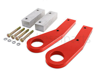 Jeep Grand Cherokee WK2 Tow Hooks Recovery Point Years 11-17 Red Powder Coat
