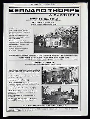 Marl House & Cottage Outwood Village Surrey Estate Agent Advert 1978