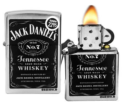 Zippo Lighter 24779 Chrome Jack Daniel's Old No 7 Street Spirits NEW
