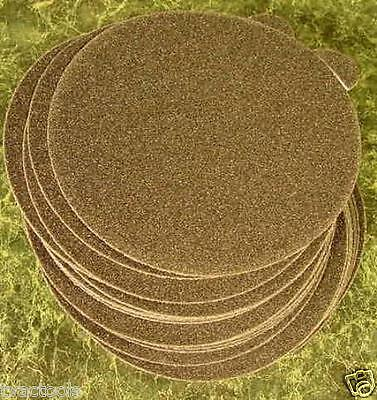 "50pc 5"" PSA STICK ON SANDPAPER DISC 60 GRIT WET  DRY P60 da sand paper disk inch"
