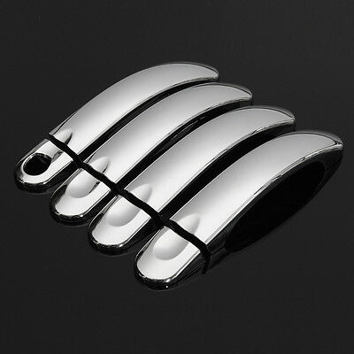 8X Chrome Door Handle Covers Trim Stainless Steel For VW Transporter T5 Caddy