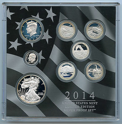 2014 Limited Edition Silver Proof Coin Set - United States Mint - AL684
