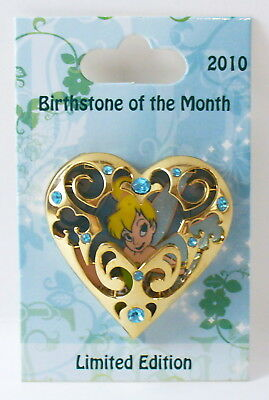 Disney Birthstone of the Month March Tinker Bell LE Pin