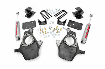 """Rough Country - 722.20 - Front 2"""" / Rear 4"""" Spindle Lowering Kit for Chevy 99..."""