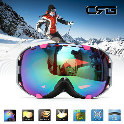 Professional Outdoor Double-Lens Mirror Snowboard Ski Goggle Anti Fog UV Snow