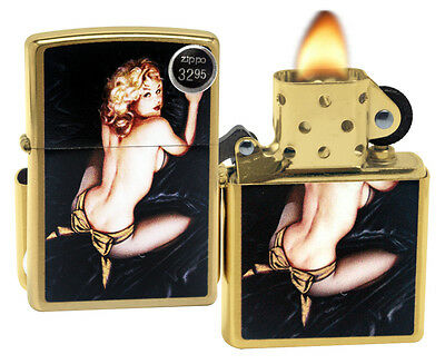 Zippo 29473 Olivia De Berardinis Brushed Brass Finish Windproof Pocket Lighter
