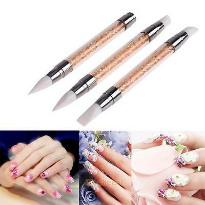3pcs Nail Art Brush Pens Shine For Mirror Chrome Effect and Holographic Powder